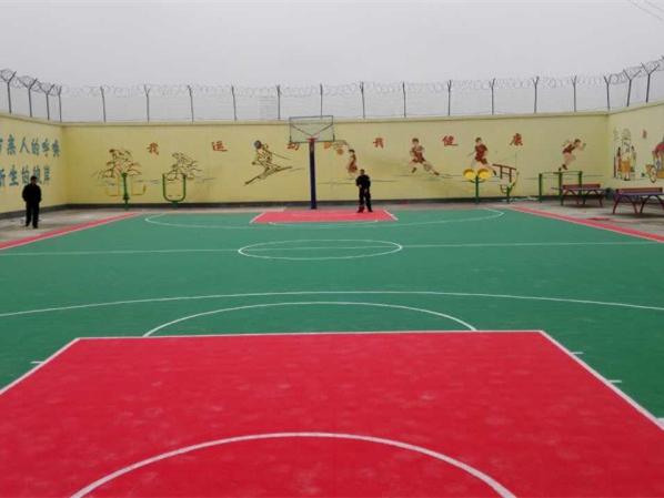 黄金城平台网zhi悬fu式拼装地板PPsu料运动拼装地板