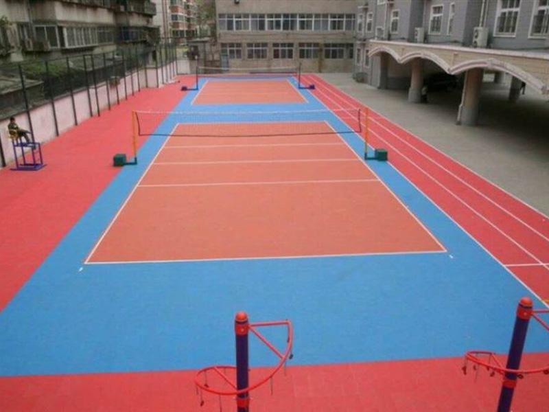 室外排球场都zaiyong悬浮式拼装运动地板