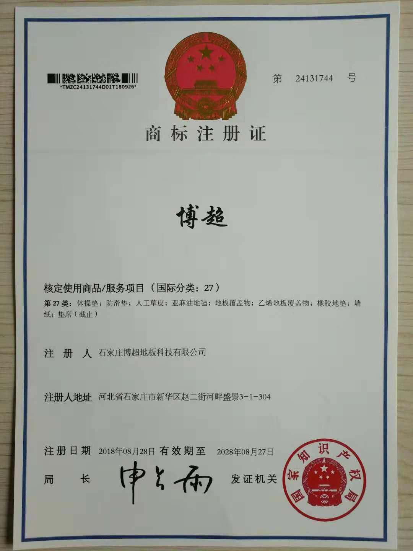 黄jin城平台网址国家商标ju注册证书